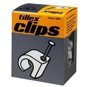 Tillex Kabel clips 5-7mm wit 100 stuks
