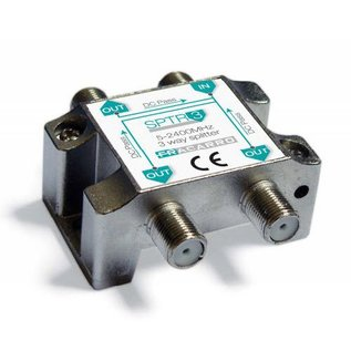 Fracarro SPTR3 signaal splitter 3 voudig 5-2400Mhz