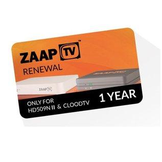 verlenging ZaapTV - CloodTV 12 maanden IPTV