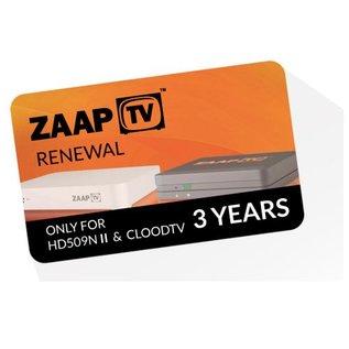 verlenging ZaapTV - CloodTV 36 maanden IPTV