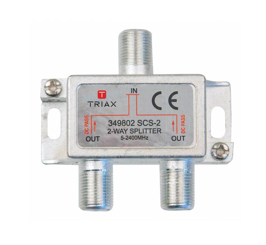 Triax SCS-2 signaal splitter 2 voudig 5-2400Mhz