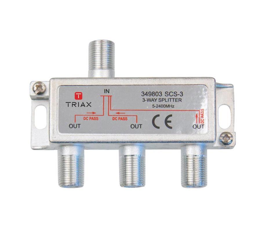 Triax SCS-3 signaal splitter 3 voudig 5-2400Mhz