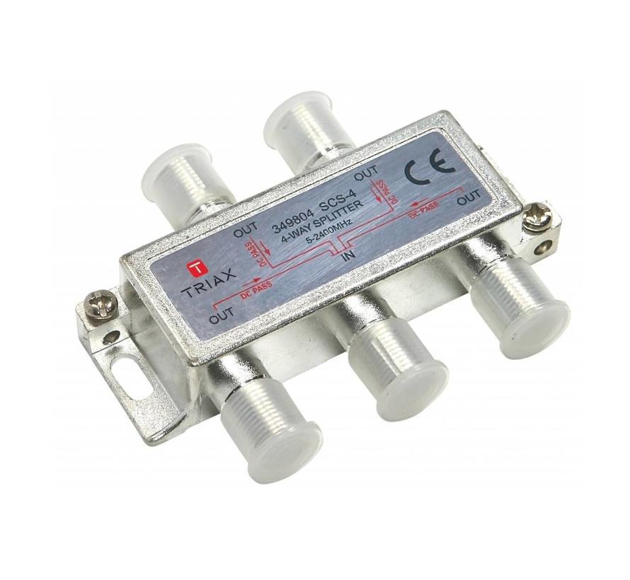 Triax SCS-4 signaal splitter 4 voudig 5-2400Mhz