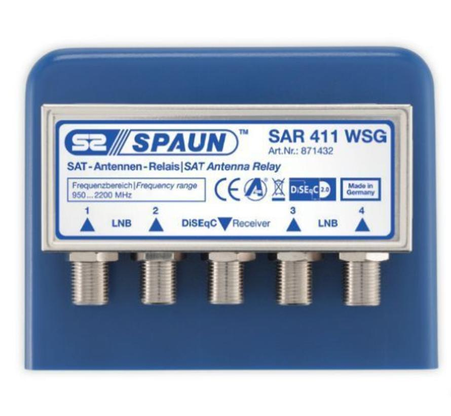 Spaun SAR 411 DiSEqC 2.0 switch 4/1 incl. behuizing