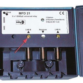 Triax Triax DiSEqC switch 2/1 MFD-21-D incl. behuizing