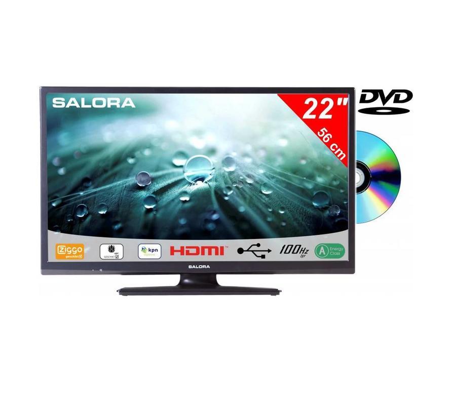 Salora 22 Inch LED 9109 DVB C/T2/S2 + DVD 12V