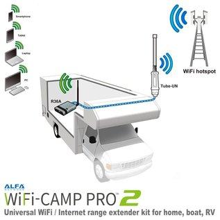 Alfa Network Alfa Network WiFi-Camp Pro2 Set Tube N Antenne + R36A Router