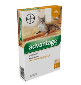 Bayer Advantage Kat 40 tot 4kg - 4 pipetten