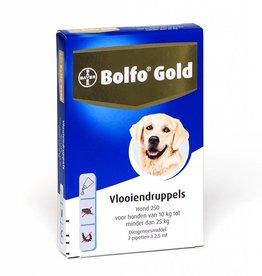 Bayer Bolfo Gold Hond 250 10kg-25kg 2 pipetten