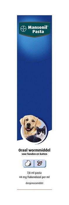 Bayer Mansonil ontwormingspasta voor honden en katten