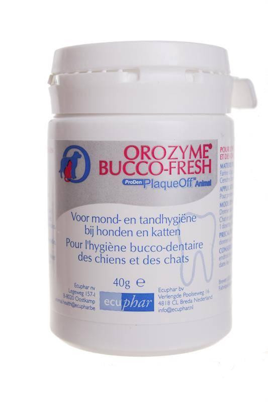 Ecuphar Orozyme Bucco Fresh Plaque Off - voor een goede conditie van tanden en tandvlees bij hond en kat