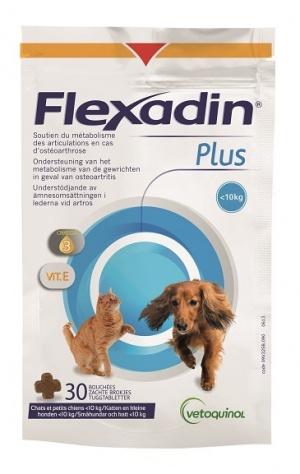 Vetoquinol Flexadin Plus ter ondersteuning van het kraakbeen bij honden en katten