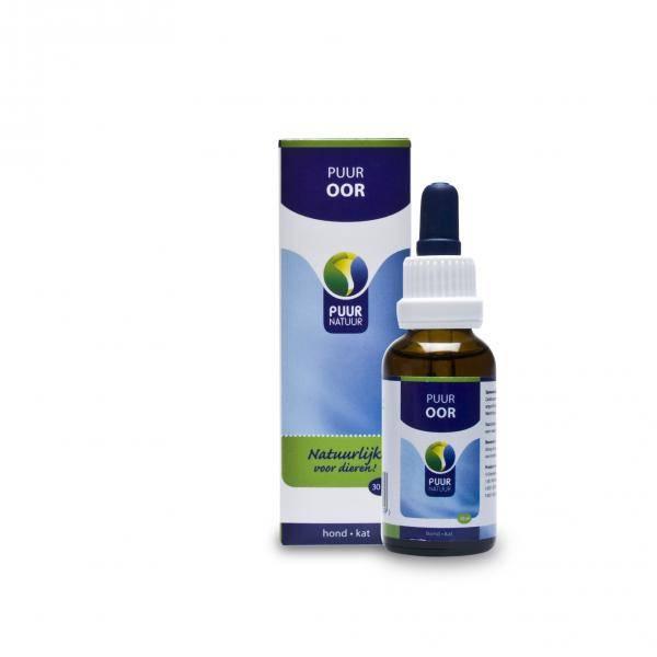 NML Health PUUR Auris / Oor 30ml - Oordruppels voor de behandeling van oorproblemen bij katten en honden