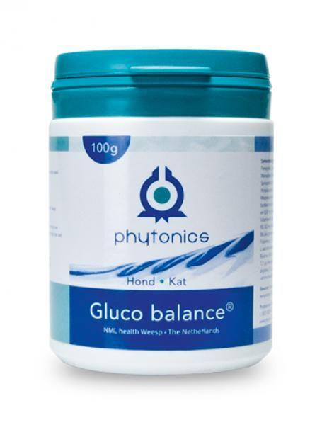 NML Health Phytonics Gluco balance 100gr - voor een gezonde suikerstofwisseling van te zware honden en katten.
