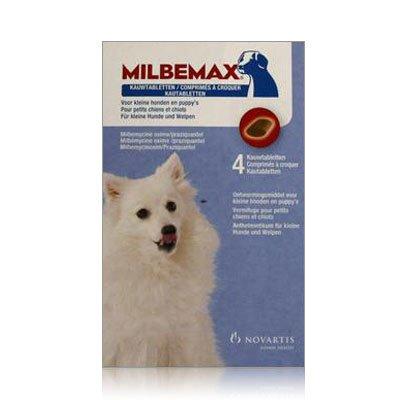 Elanco Milbemax smakelijke ontwormingstabletten - 4 tabletten - voor honden en pups van 1 tot 5kg