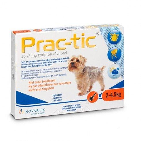 Elanco Elanco Prac-tic XS tegen vlooien en teken bij honden van 2 tot 4,5 kg