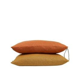 Set Of Cushions In Orange Tones