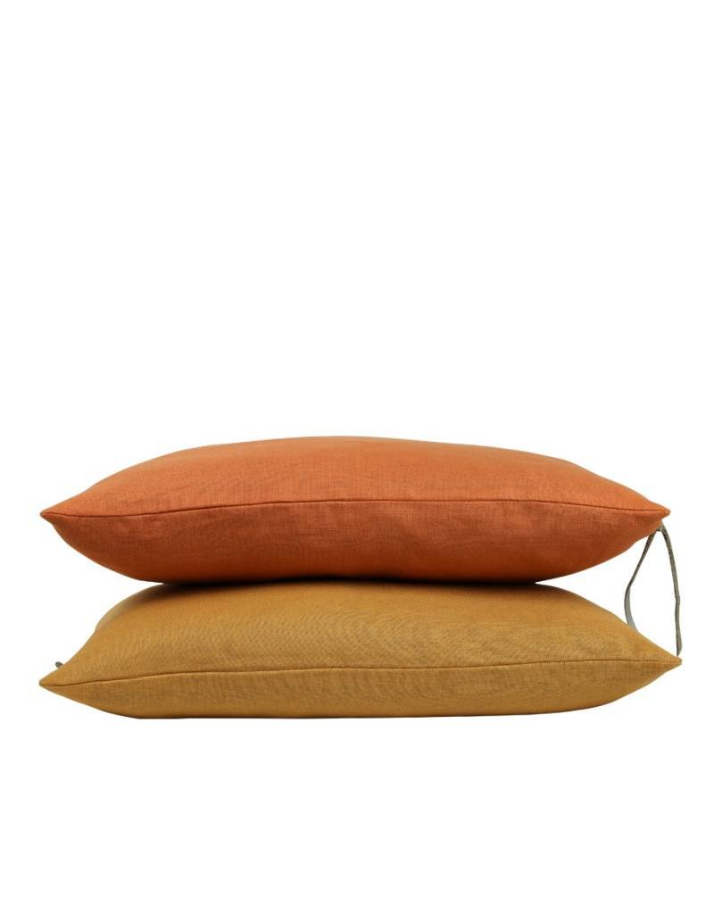 Set Of Cushions In Orange Tones