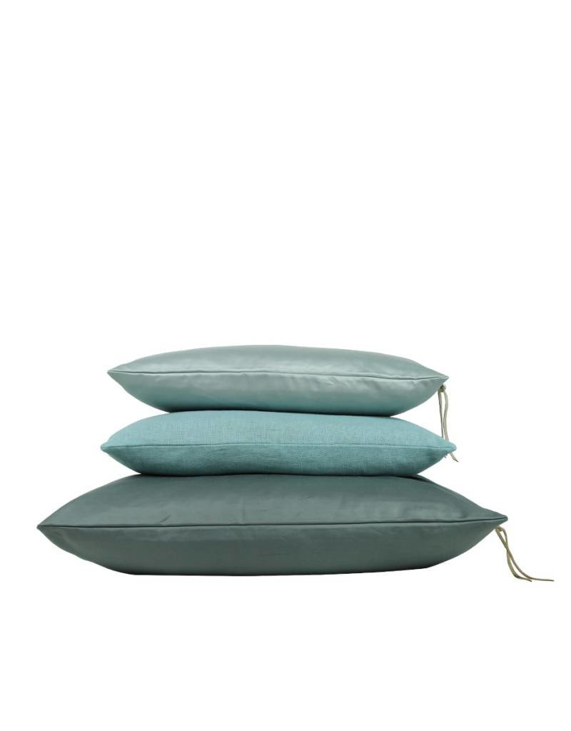 Set Of Cushions In Green Tones