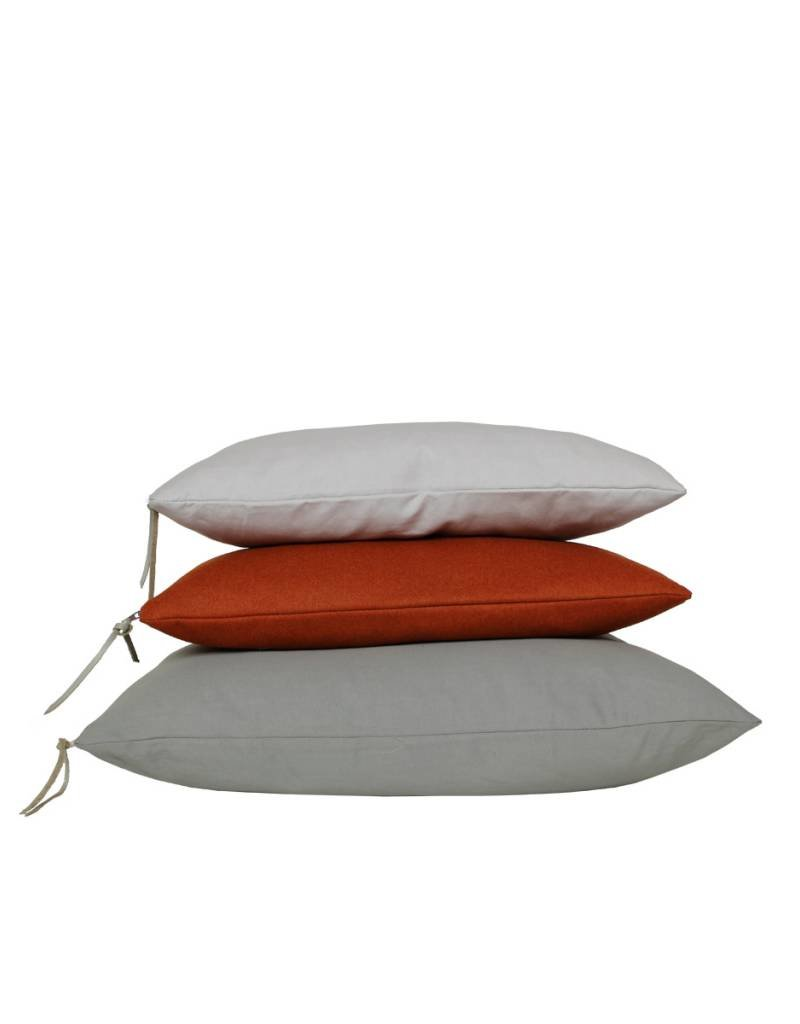 Set Of Cushions In Grey And Orange Tones