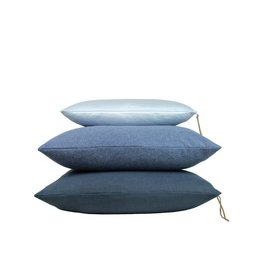 Set Of Cushions In Blue Tones