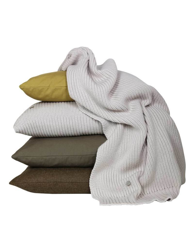 Set Of Cushions And Throw In Natural, Yellow and Brown Tones