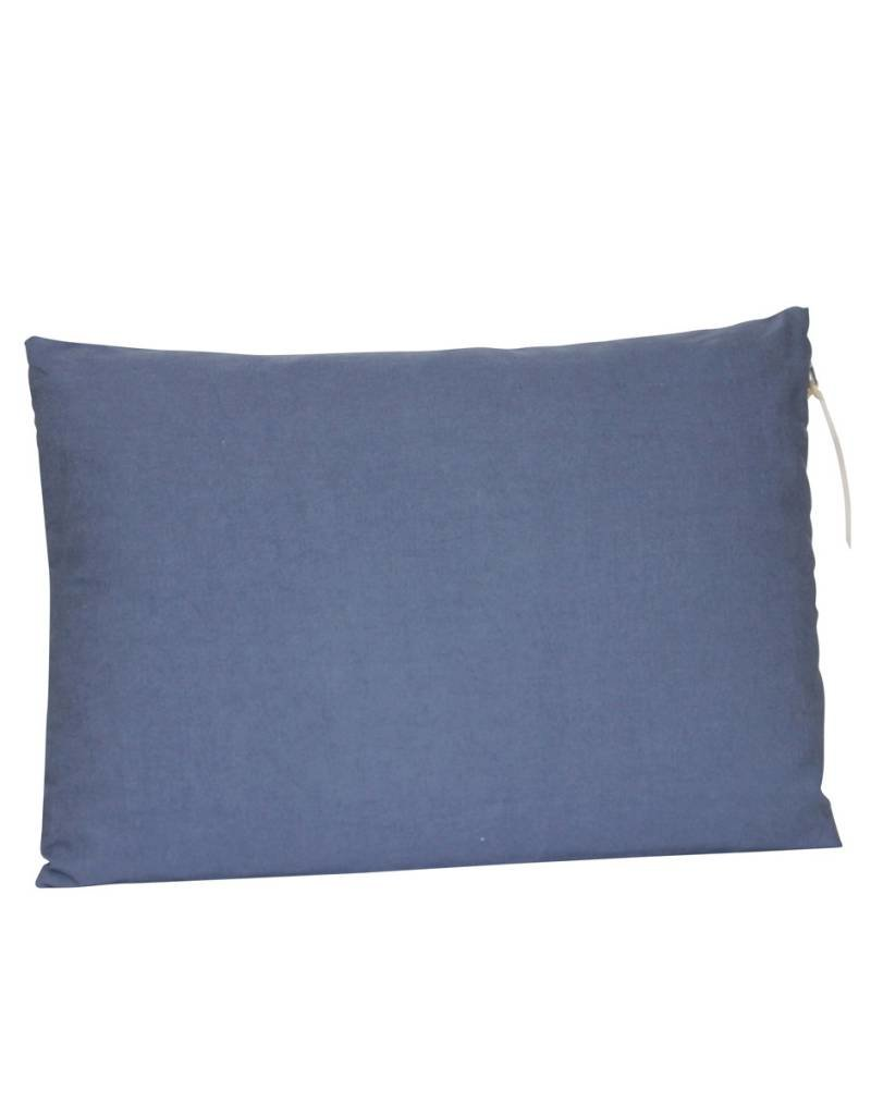 Set Of Cushions And Throw In Grey And Blue Tones