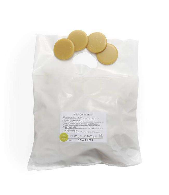 Harsblokjes Geel in schijfjes, 1 kg