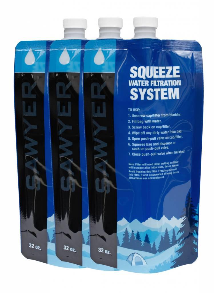 Sawyer Sawyer 1 liter waterzak 3 stuks [SP113]