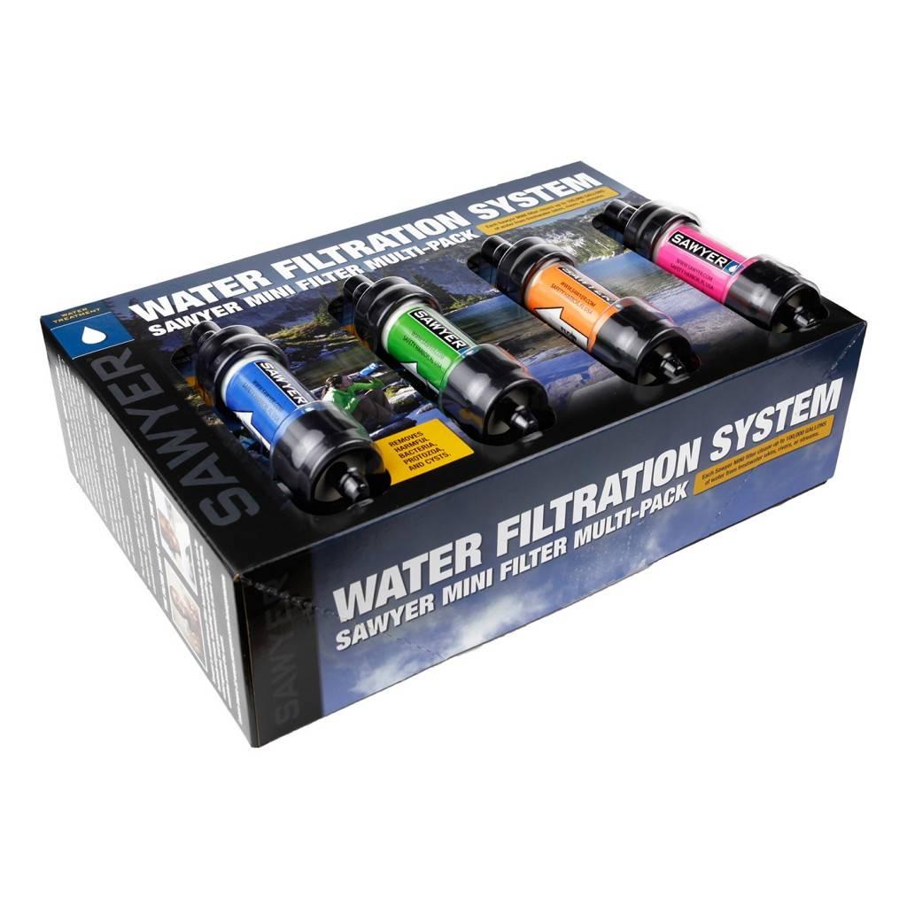 Sawyer Sawyer Mini Waterfilter 4 stuks in 4 kleuren [SP124]