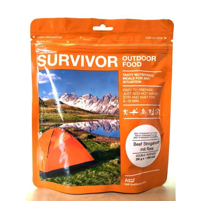 Survivor outdoor food Survivor Outdoor Food Rundvlees stroganof met rijst