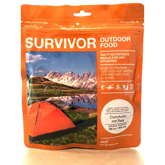Survivor outdoor food Survivor Outdoor Food Kip curry met rijst