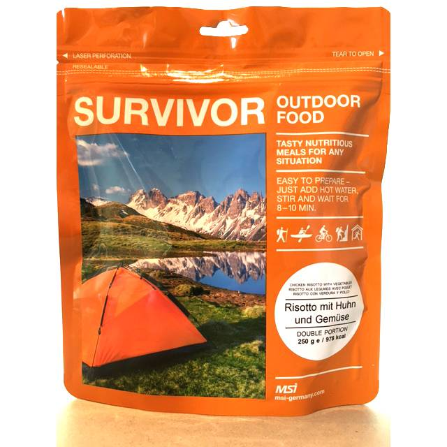Survivor outdoor food Survivor Outdoor Food Risotto met kip en groenten