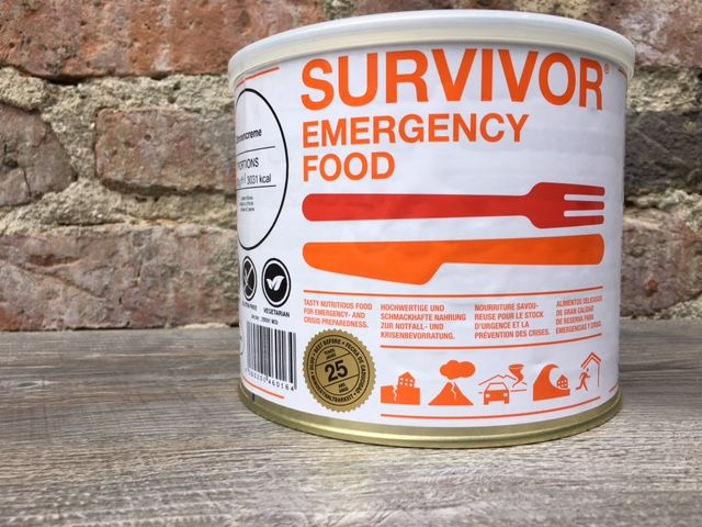 Survivor outdoor food Survivor Outdoor Food Spagetti Bolognese met soya in blik