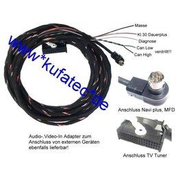 TV Receiver w/ CAN new - Harness - VW MFD/AUDI RNS-D