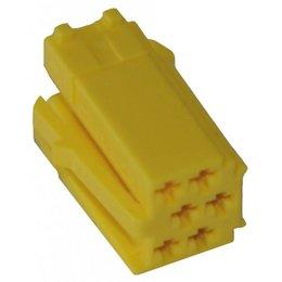 MINI ISO - Gelb Steckergehäuse - 6-polig, 10pc