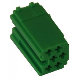 MINI ISO - Green Plug Housing - 6-pins, 10PC