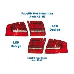 Facelift LED Rear Lights - Lights Only - Audi A8 4E