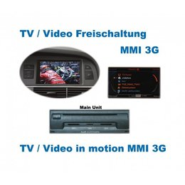 Video in beweging - MMI 3G - Audi A1, A5, Q5, Q7, A6 4F, A8 4E, A8