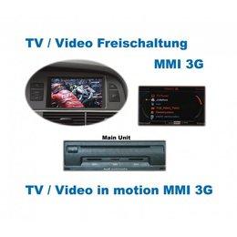 Video in Motion - MMI 3G - Audi A1, A5, Q5, Q7, A6 4F, A8 4E, A8