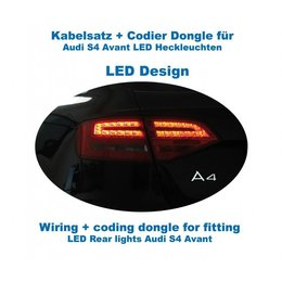 Wiring + coding dongle LED Rear Lights Audi A4/S4 Avant