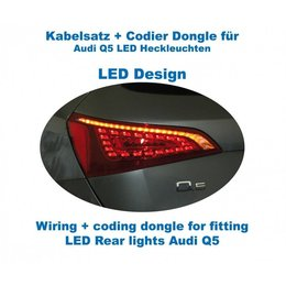 Bedrading + codering dongle LED achterlichten Audi Q5