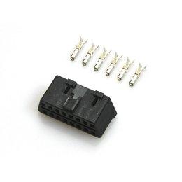 OBD Diagnostic connector - 16 pins incl. 6 Terminals