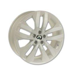 Originele Skoda 17 inch lichtmetalen velg wit soort Gigaro
