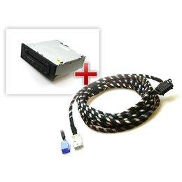 Audi CD-Wechsler inkl. Kabelsatz für A3 8P, A4 8E, TT 8J - Mini ISO, 1,8 m Länge