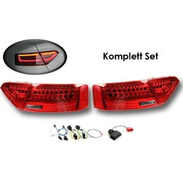 Komplett-Set LED-Heckleuchten für Audi A5 / S5 Facelift - LED US auf LED facelift EU