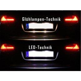 Komplett-Set LED Kennzeichenbeleuchtung für Porsche Cayenne