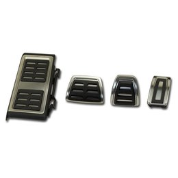 Pedals / footrest - stainless steel - manual transmission