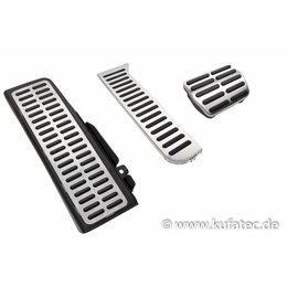 Pedals / footrest - stainless steel - automatic transmission