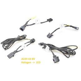 AUDI A3 8V pre-facelift LED achterlichten / achterlichten adapterkabel set